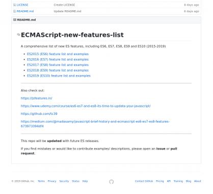 La liste des nouvelles fonctionnalités ECMAScript présentées clairement par version