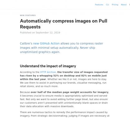 Compression automatique des images lors des Pull Requests
