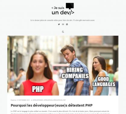 Pourquoi les développeurs détestent PHP ?
