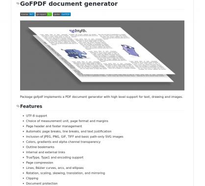 GoFPDF : un générateur de PDF avancé en Go