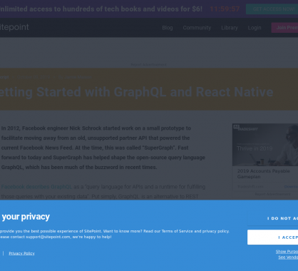 Démarrer avec React Native et GraphQL