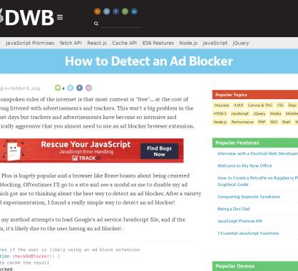 Comment détecter un Ad Blocker sur ses pages web ?