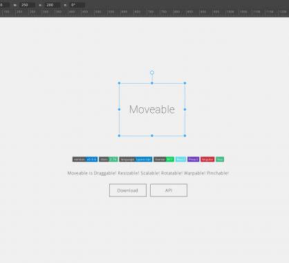 Moveable: une lib Javascript pour drag and drop, redimensionner, pinch ... des blocs