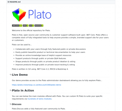 Plato : une plateforme open source de support et aide développée en .NET