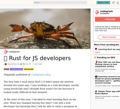 Une introduction au langage Rust pour les développeurs Javascript