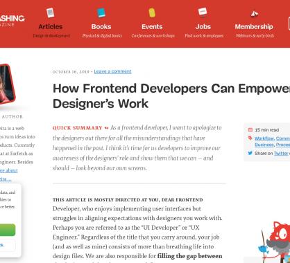 Comment les développeurs frontend peuvent améliorer le travail des designers