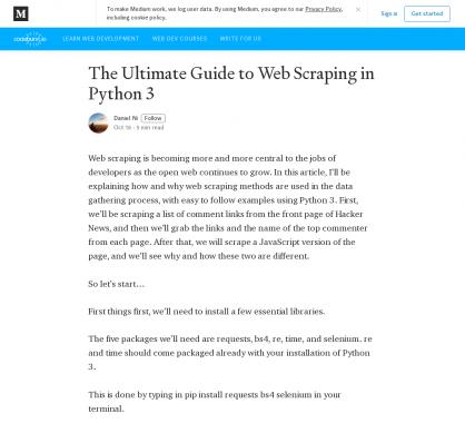 Un guide complet pour faire du Web Scraping en Python