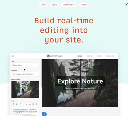 Tina: un toolkit pour administrer en temps réel vos CMS modernes (Gatsby et Next.js)
