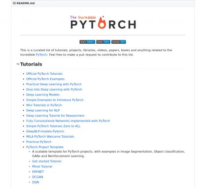 Une liste de ressources complète sur le framework de machine learning Pytorch