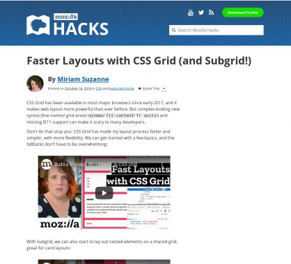 Créez des layouts CSS plus rapidement avec CSS Grid et Subgrid