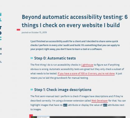 6 points d'accessibilité à vérifier sur chacunes de vos pages