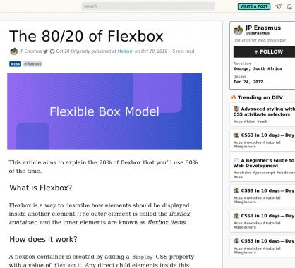Les 80/20 de Flexbox: explications sur les 20% de flexbox que vous utiliserez 80% du temps