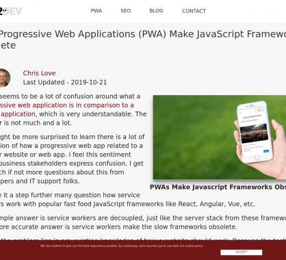 Pourquoi les PWA rendent les frameworks Javascript obsolètes