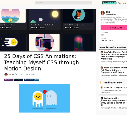 25 jours d'animations CSS pour s'autoformer au motion design en CSS