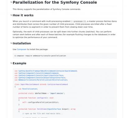 Parallélisation de commandes Symfony Console
