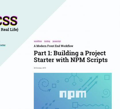 Un tutoriel pour mettre en place un workflow de développement frontend moderne