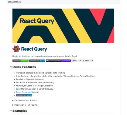 React Query: des hooks pour récupérer, cacher et mettre à jour des données asynchrones