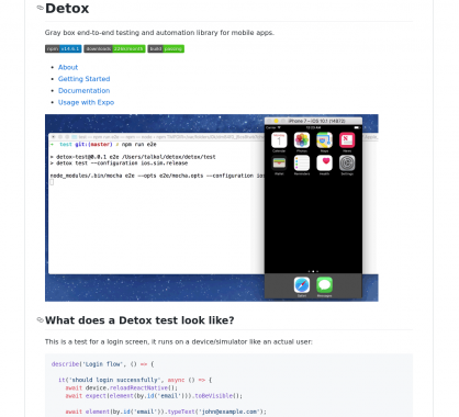 Detox: un framework d'automatisation et de tests pour applications mobiles