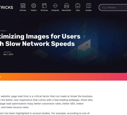 Optimisez vos images pour les utilisateurs à connexion lente