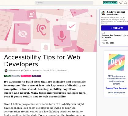 Des astuces d'accessibilité à connaître pour vos pages web