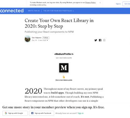Un guide pour créer sa propre lib React.js en 2020