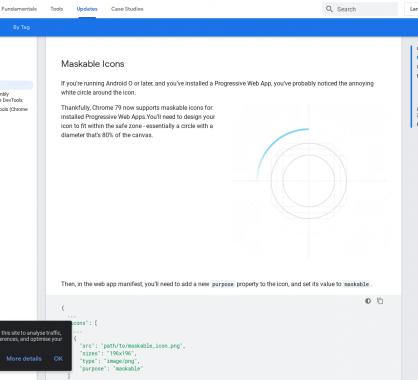 Les nouveautés de Chrome version 79 avec une amélioration des icones PWA, empêcher la mise en veille ...