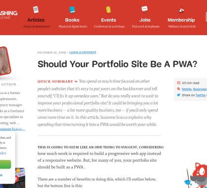 Votre site de portfolio devrait-il être une PWA ?