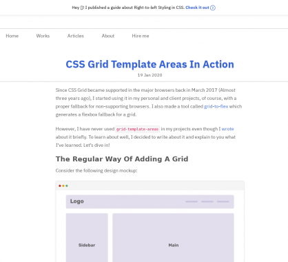 Un exemple d'utilisation de grid-template-areas pour vos CSS Grid