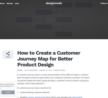 Comment créer des Customer Journey Map pour de meilleurs design produits