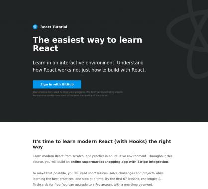 Un tutoriel interactif pour apprendre à développer avec React.js