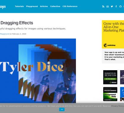 Des effets au drag and drop d'images