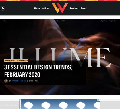 3 tendances en webdesign pour février 2020