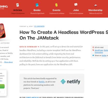 Créer un site Headless avec WordPress avec une architecture JAMStack