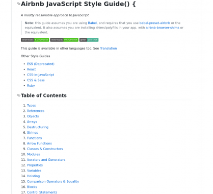 Le Styleguide Javascript d'AirBnb