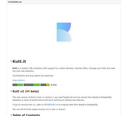 kutt: un outil de raccourcissement d'URL moderne, self-hosted et open source