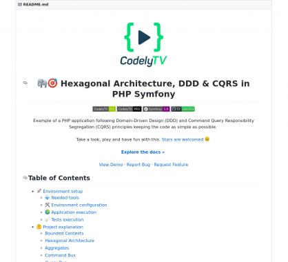Architecture hexagonale, DDD et CQRS en PHP avec Symfony