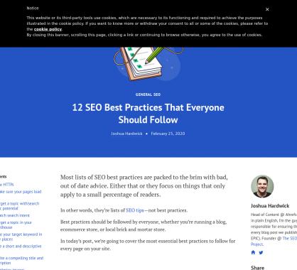 12 bonnes pratiques SEO à suivre quelque soit le type de site web
