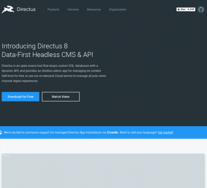 Directus 8 : la plateforme CMS headless PHP en mode Data-First
