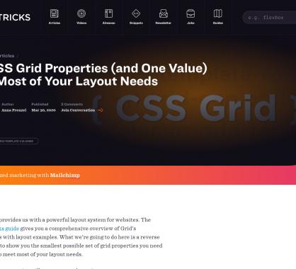 4 propriétés CSS Grid et une valeur qui devraient suffire pour tous vos layouts