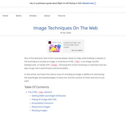 Un guide avec plein d'astuces et techniques sur les images en web